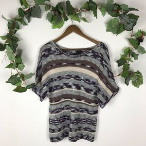 New Directions Knitted Scoop Neck Short Sleeve Top